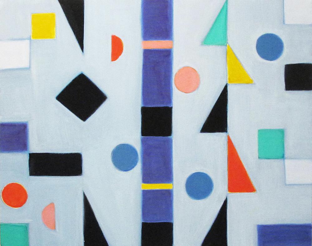 "Cluster, 2016, acrylic on canvas, 24 x 30"""
