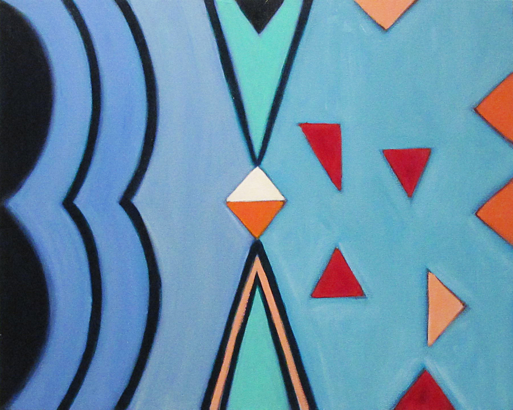 """Harmony, 2016, acrylic on canvas, 24 x 30"""""""