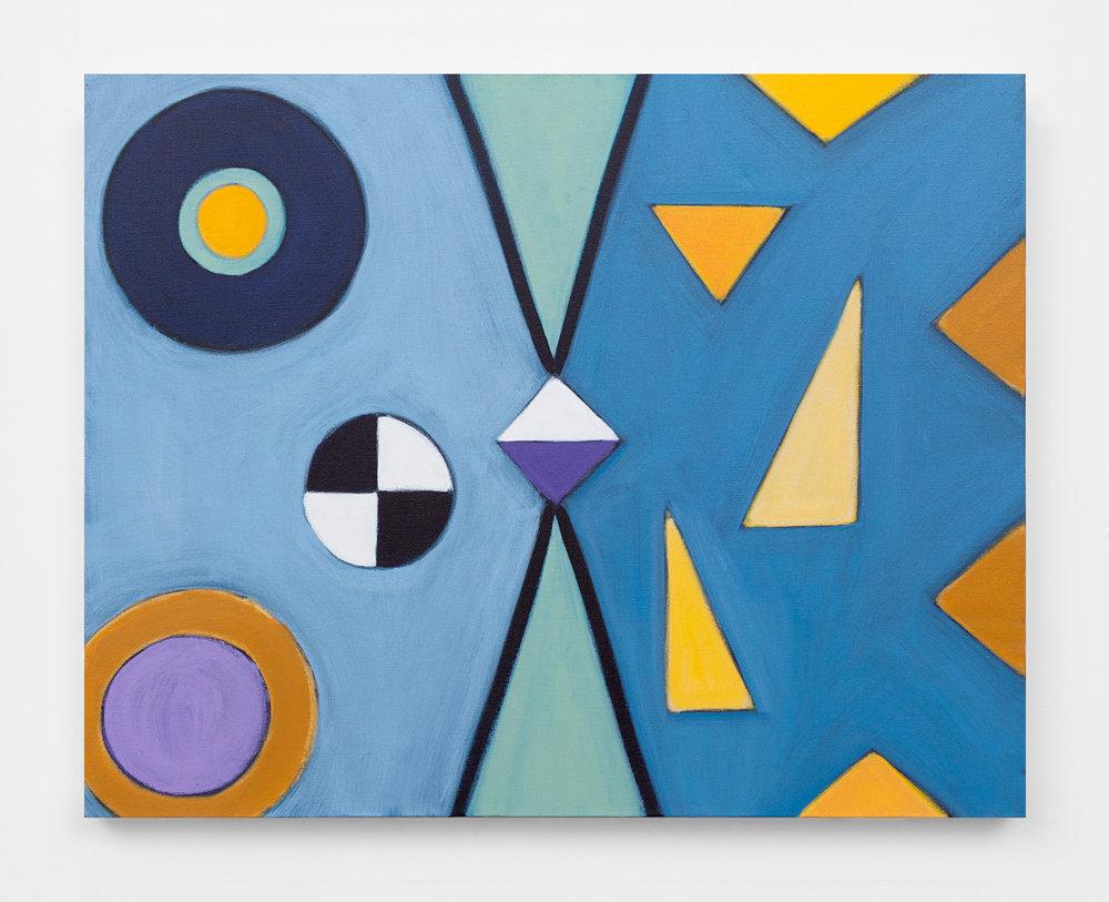 """Variable, 2016, acrylic on canvas, 24 x 30"""""""