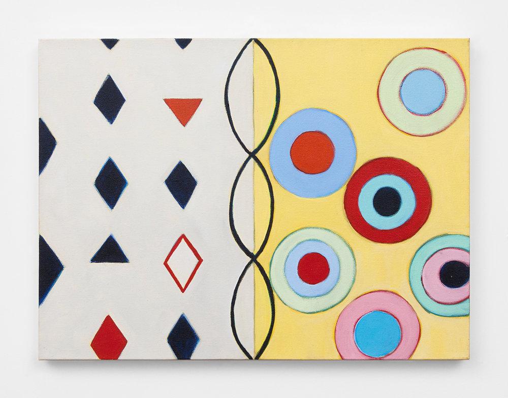 "Embrace, 2015, acrylic on canvas, 18 x 24"""