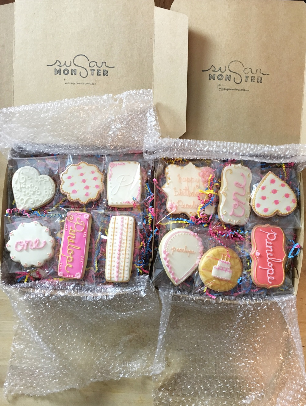 We package and ship our cookies worldwide. Need a gift? We have you covered!