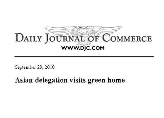 Asian Green Delegation - Daily Journal of Commerce, 09/10