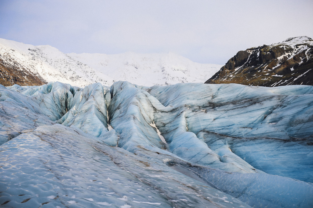 Walking on Vatnajökull Glacier