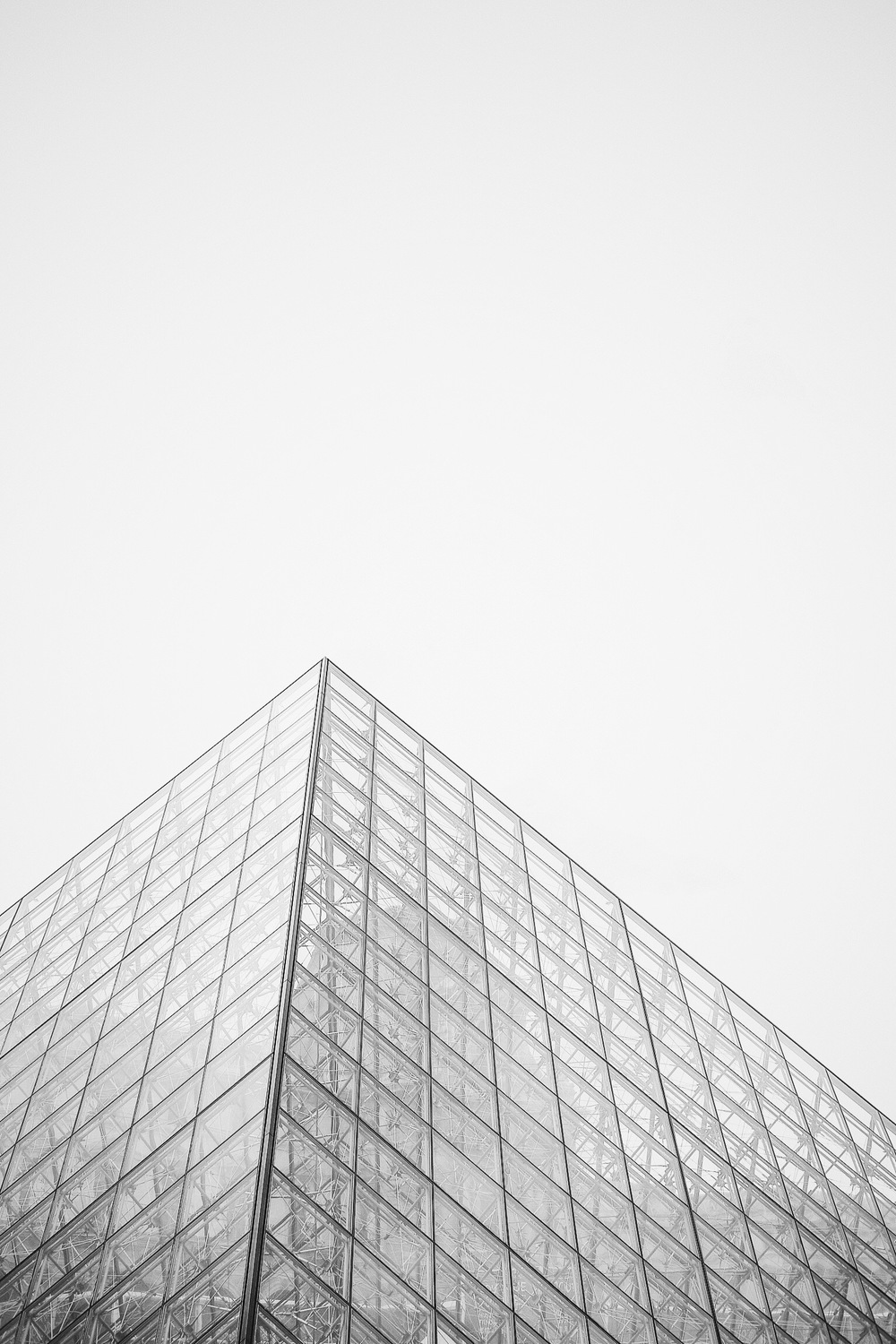 The Louvre Pyramid, Black & White