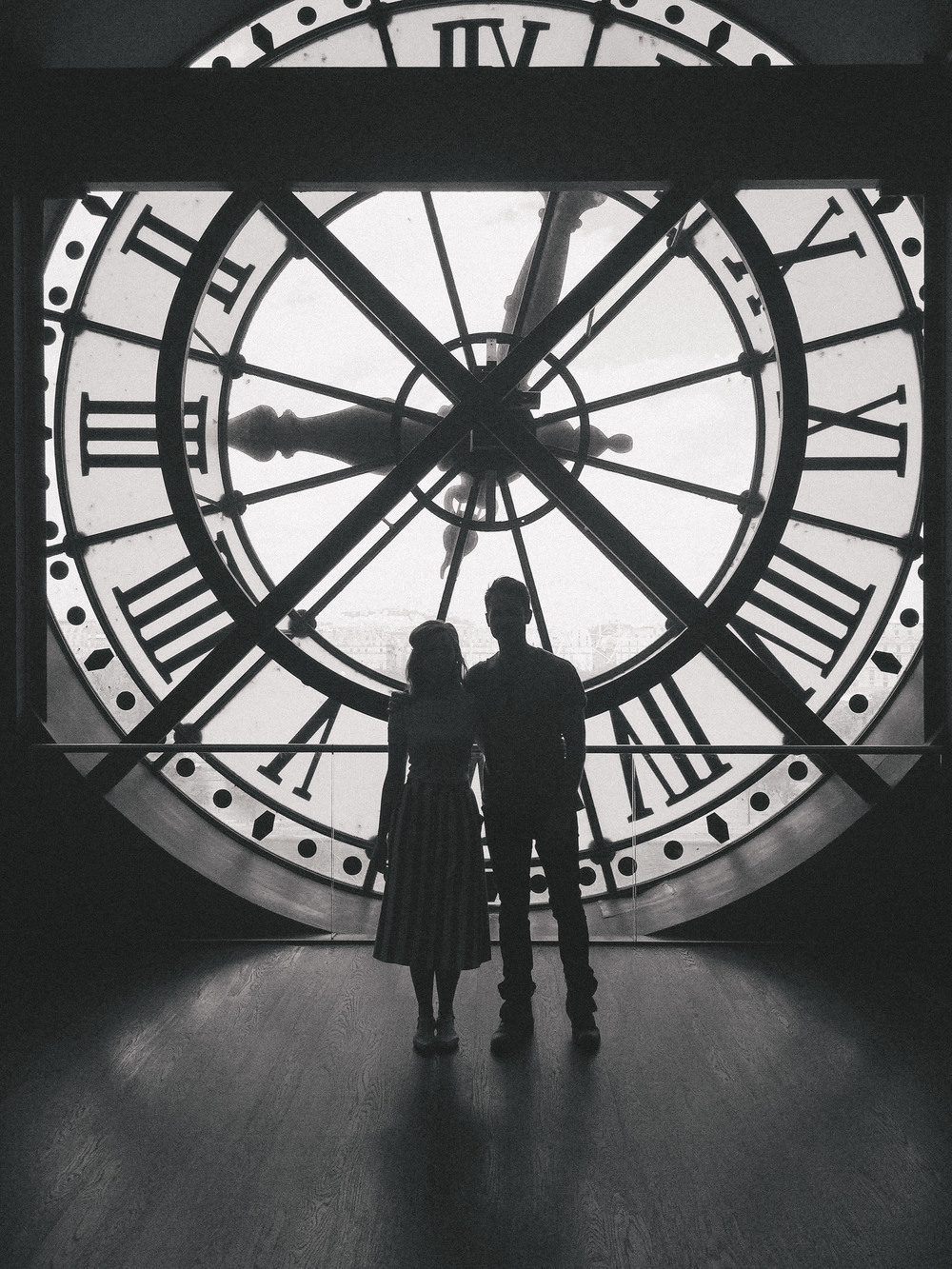 Famous Clock inside Musee d'Orsay in Paris