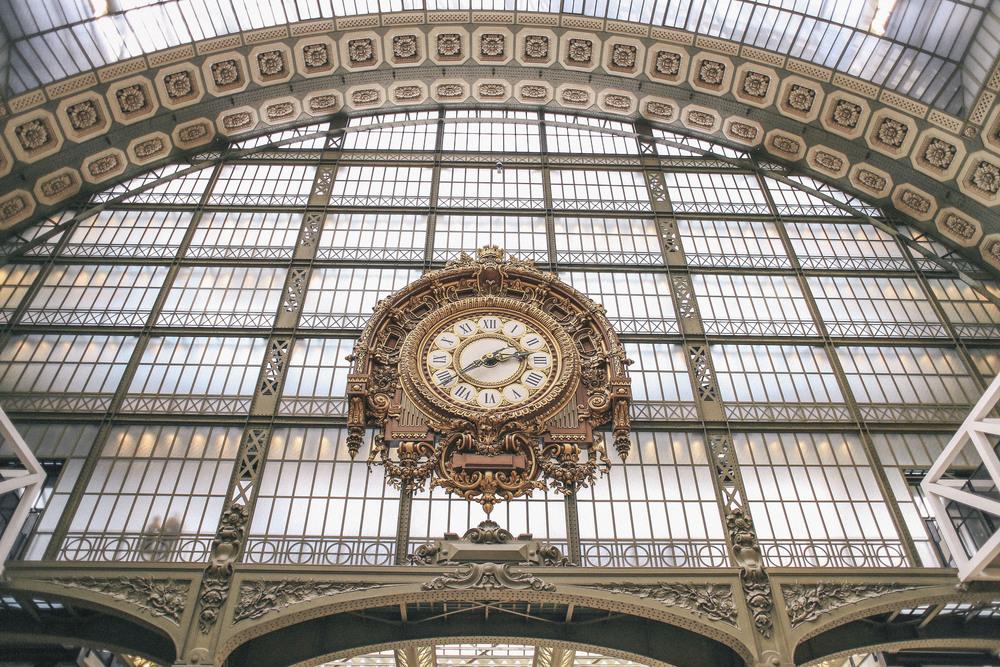 Beautiful Clock inside Musee d'Orsay