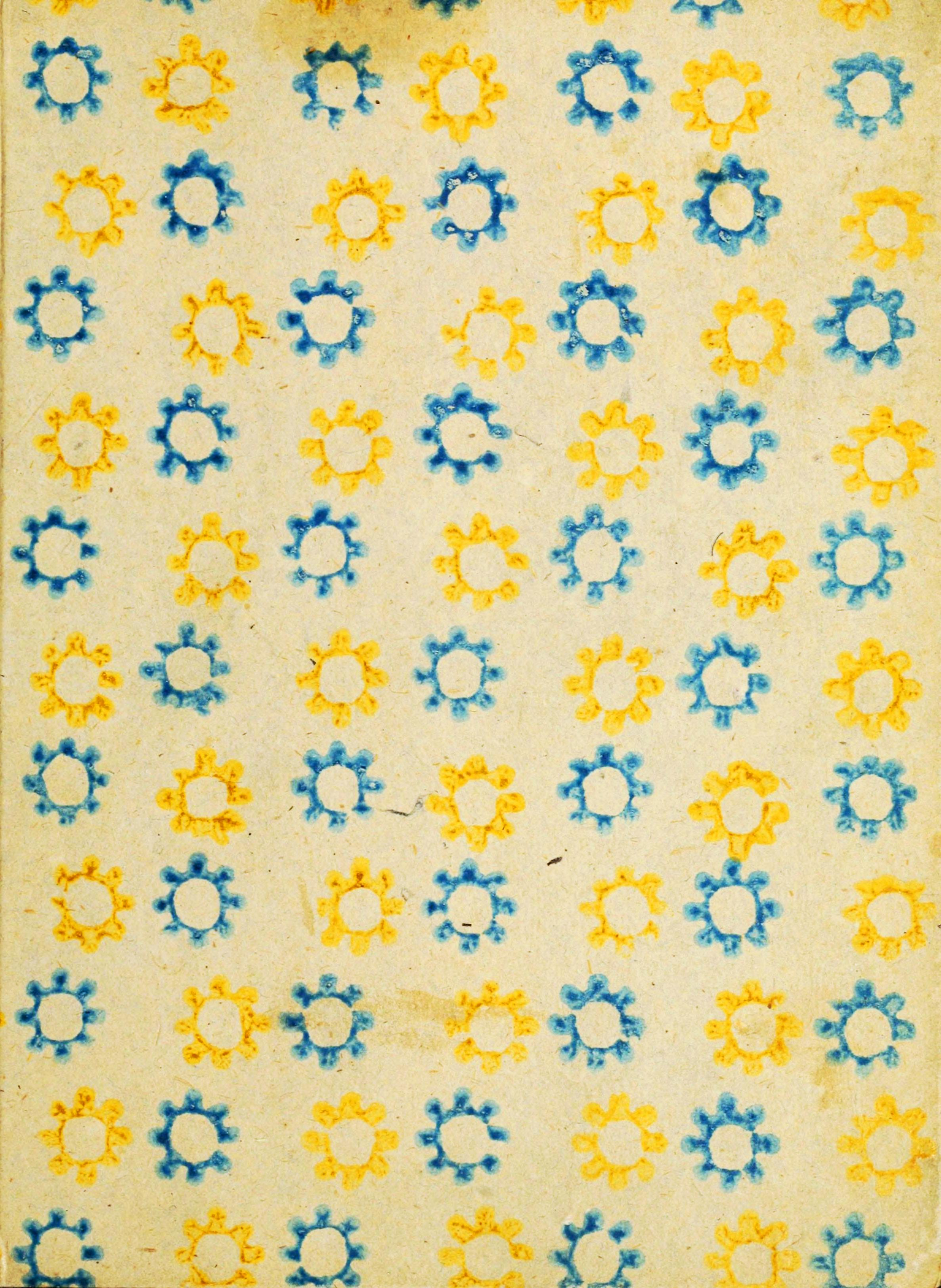 Design-Paper-Pattern-Blue-and-yellow-sun-stencil