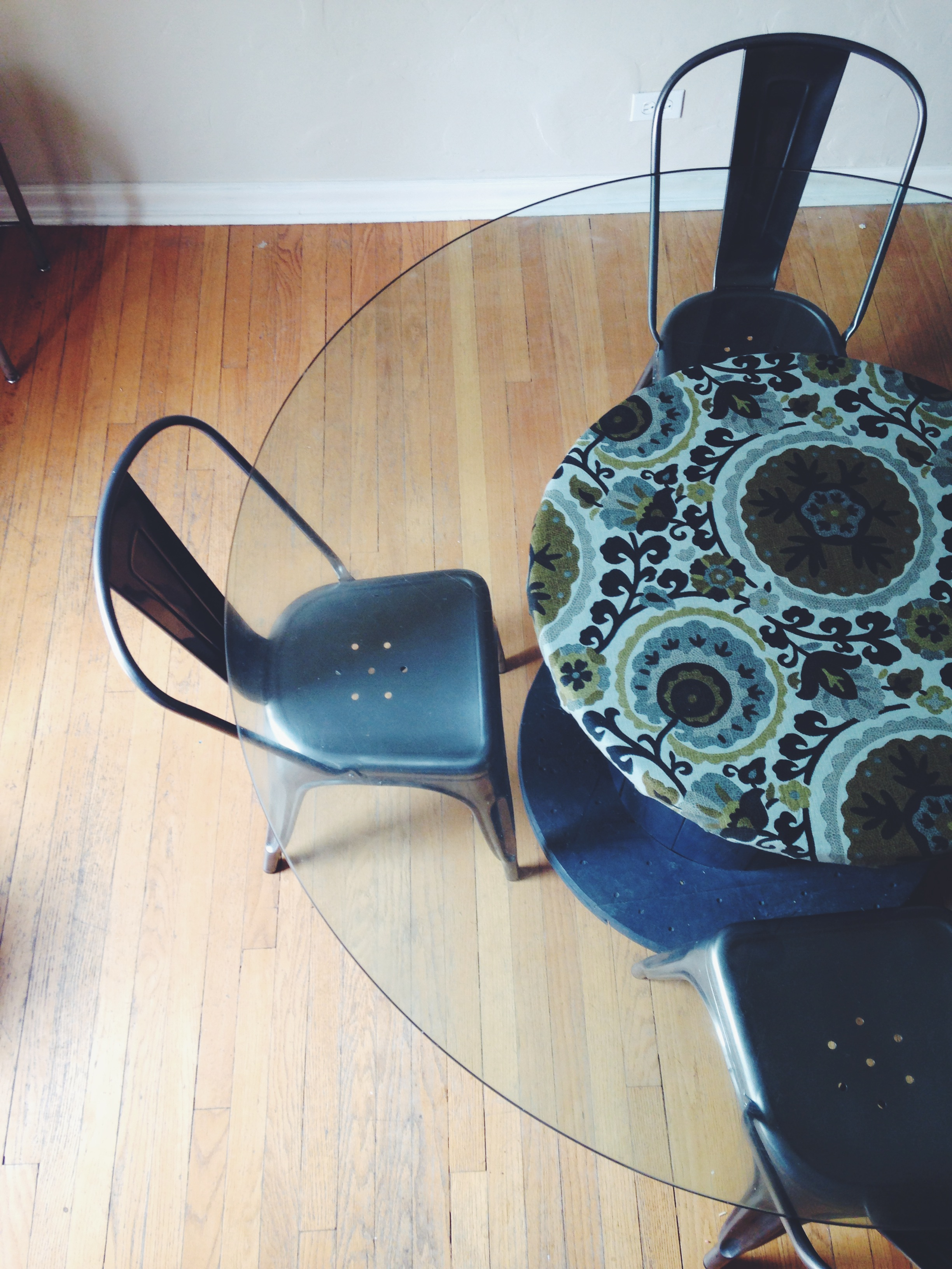 wire spool dining table - jenn goodrich design