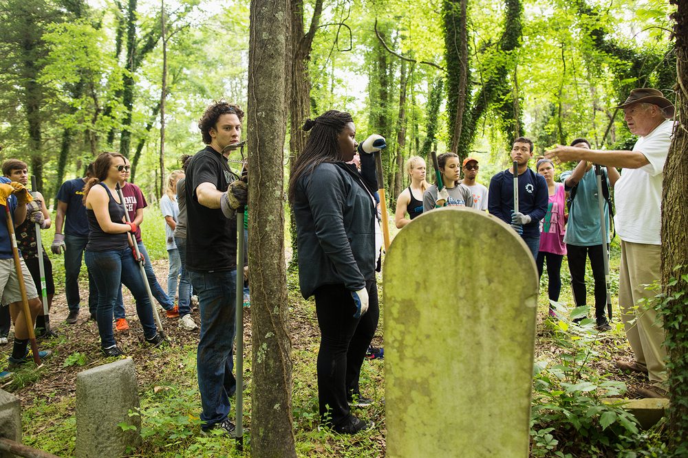 East End Cemetery Cleanup & Restoration Project, Richmond, VA Photo: Brian Palmer