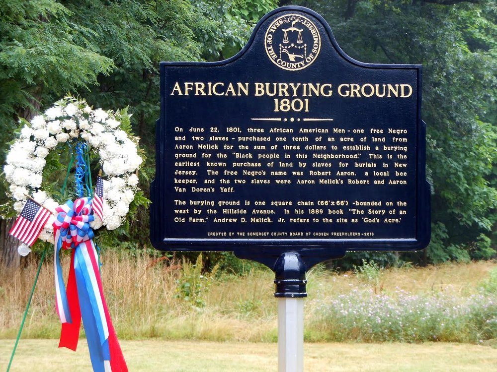 African Burying Ground,Bedminster NJ Marker Installed by local community in June 2016 Photo:Mary Jane Fennell