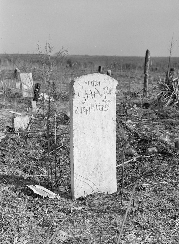 """Negro graveyard on abandoned land in the Santee-Cooper Basin, South Carolina"" Courtesy: Library of Congress"