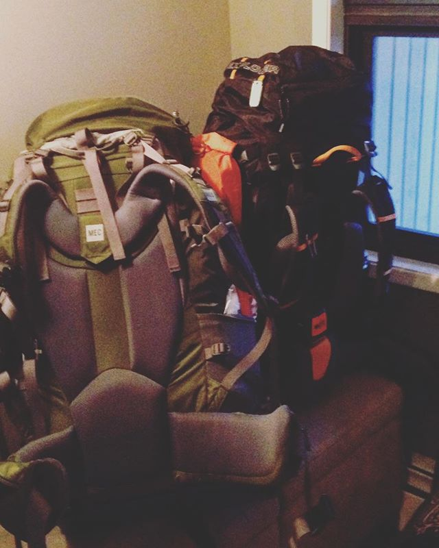 All packed and ready to go! The mountains are calling. Enjoy your long weekend!