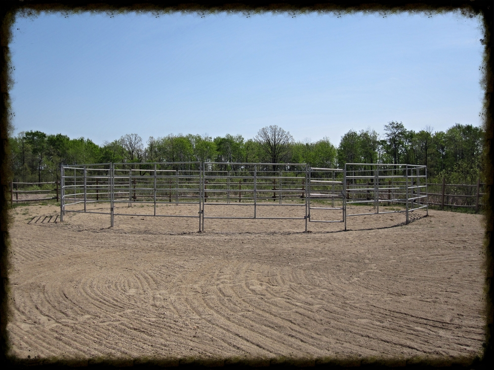 Custom made 60 foot round pen