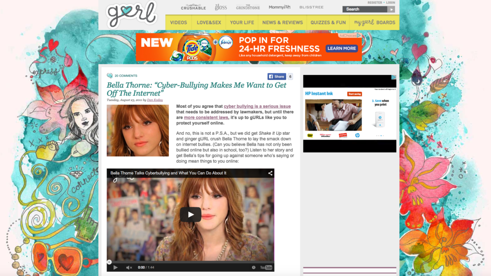Gurl.com: Bella Thorne Video Interview