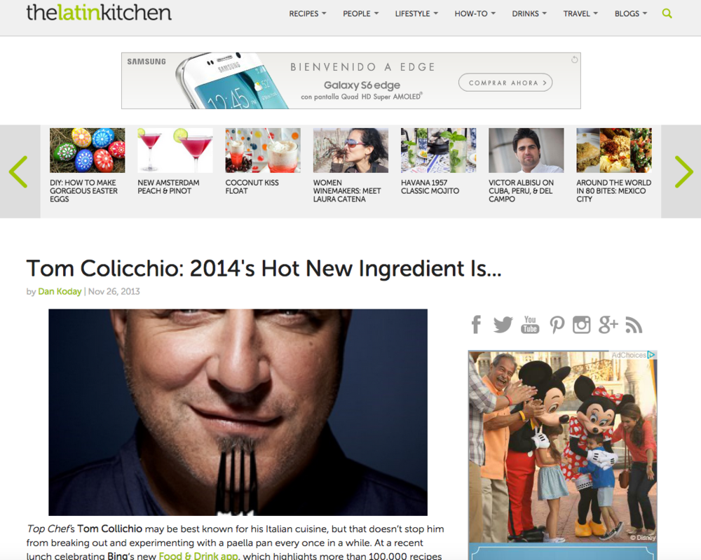 The Latin Kitchen: Tom Colicchio Interview