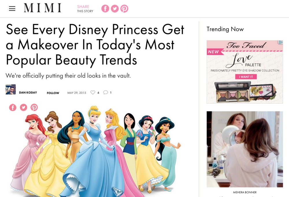 See Every Disney Princess Get a Makeover In Today's Most Popular Beauty Trends