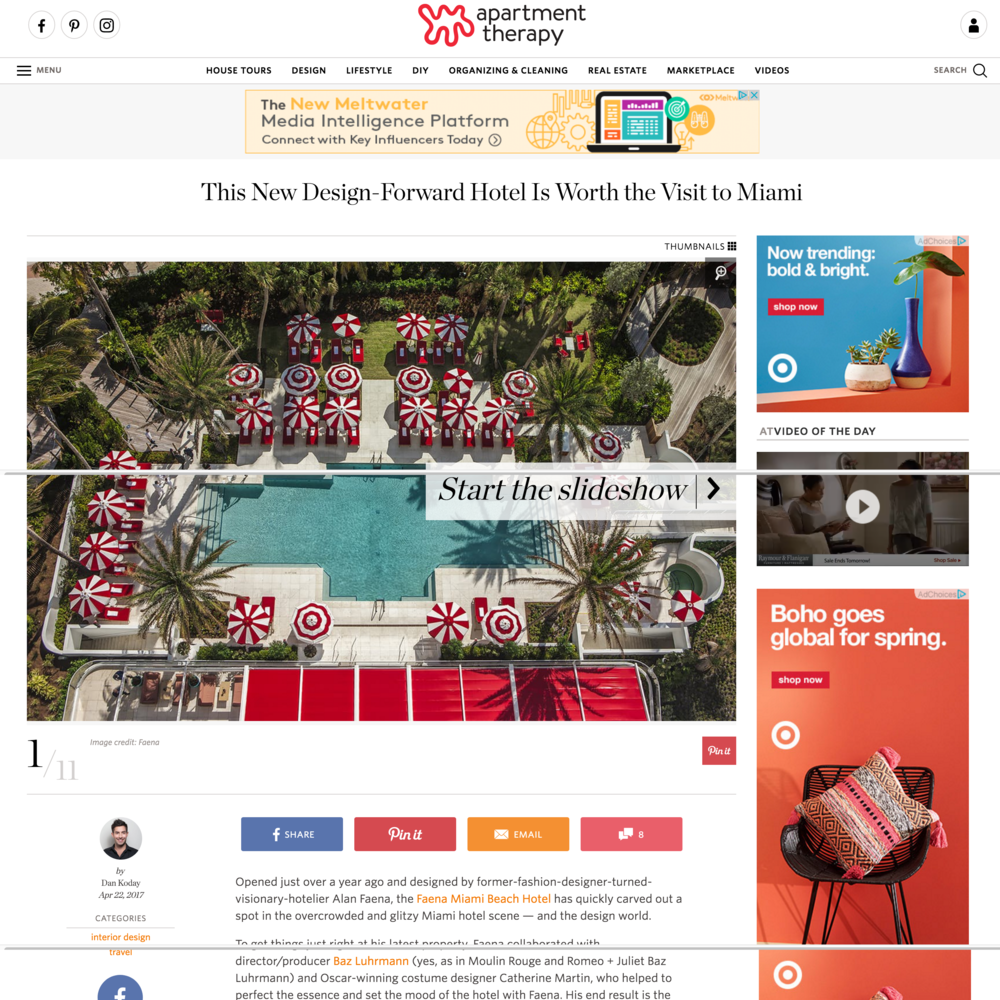 Faena Hotel Design Inspiration