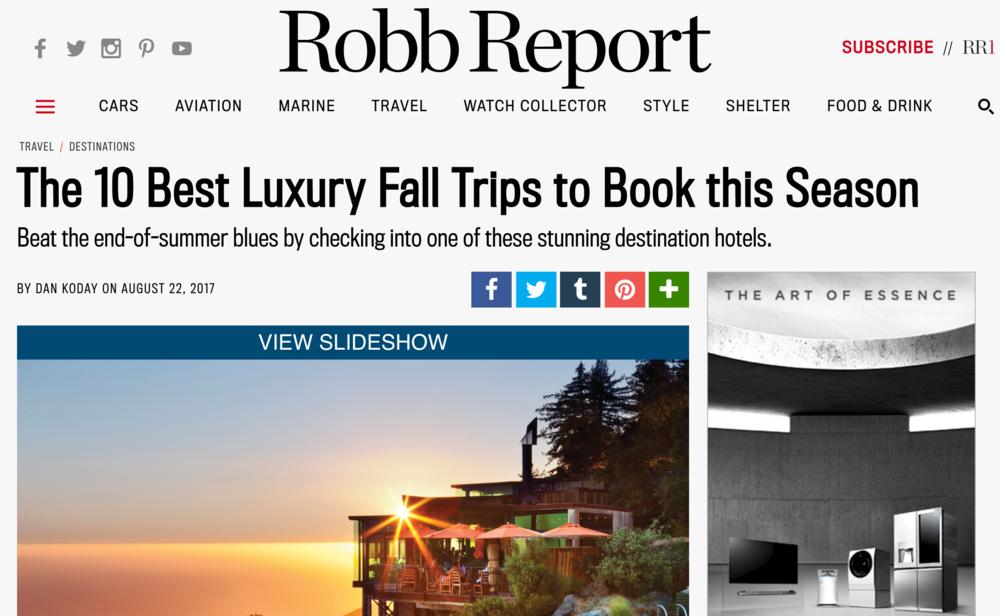 Best Luxury Fall Trips