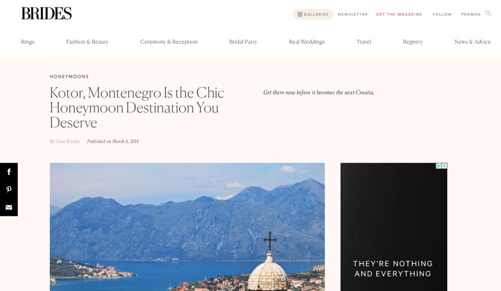 Kotor, Montenegro Is the Honeymoon You Deserve
