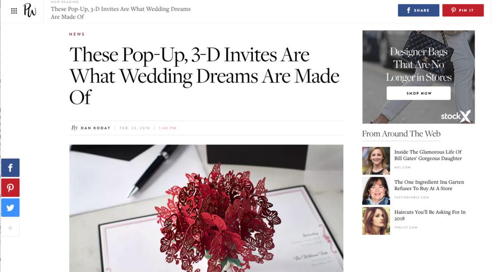LovePop Popup Wedding Invites