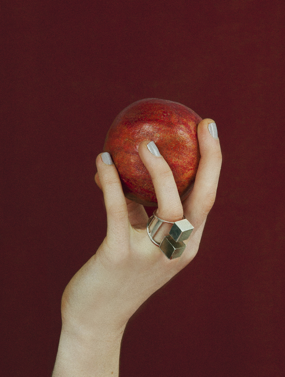 Wednesday Jewellery, The Cube Ring, Pyrite Stones