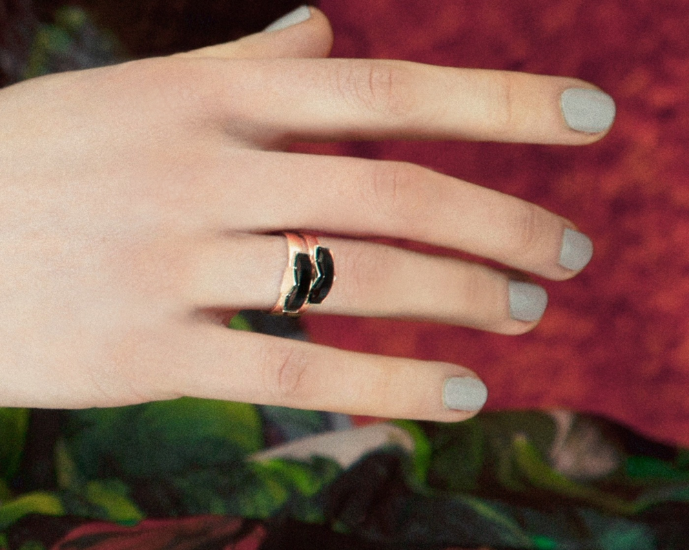 Wednesday Jewellery Onyx Semi Ring