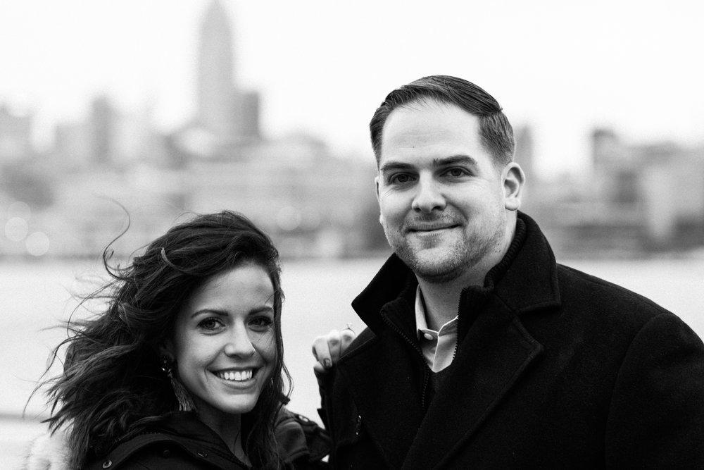 Moody hoboken engagement photos