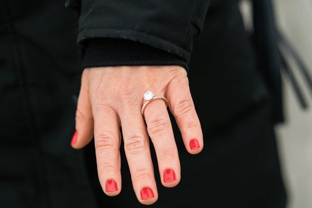 Hoboken engagement ring photographer