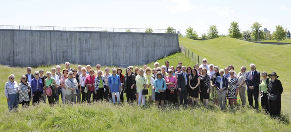 Members of the Ottawa Garden Club at the official opening of the Commemorative Garden of Remembrance at the Canadian War Museum, June 2017