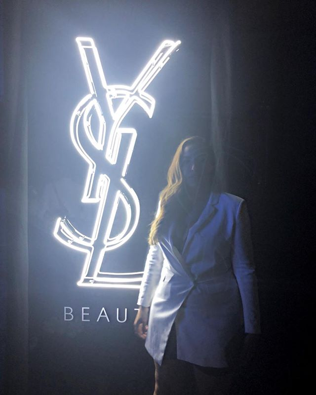 only managed this low-res throwaway pic. but s/o to @alijflowers you work impeccably hard (and well under pressure). a seamless event for @yslbeauty 💄thanks for bringing me along x #yslbeautyclub