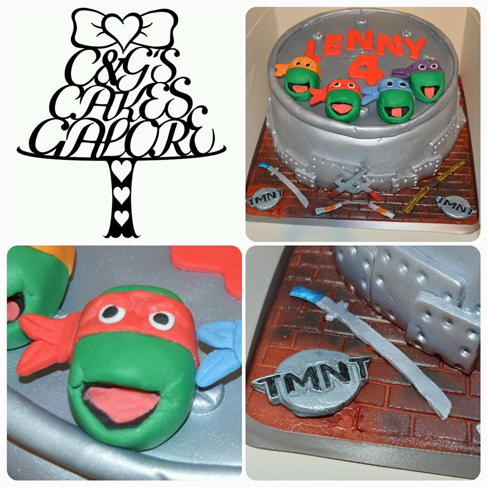 TMNT manhole cover cake