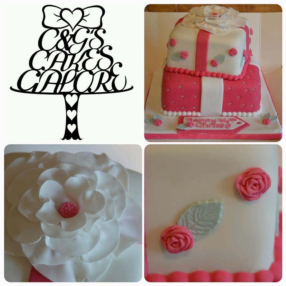 Pretty Flower present cake