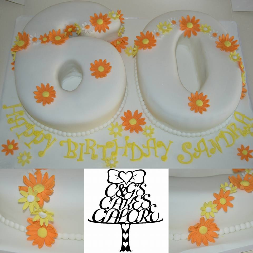 Daisy Chain 60th birthday cake