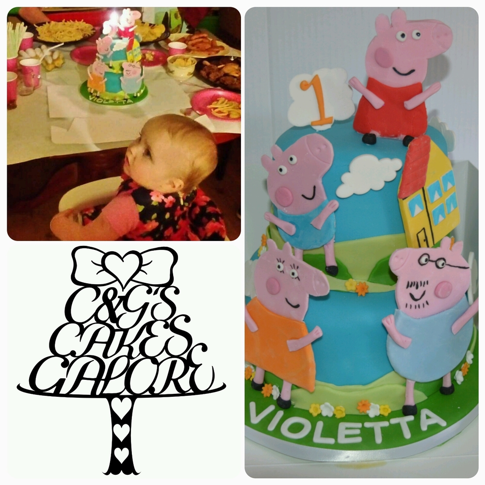Tiered Peppa pig cake