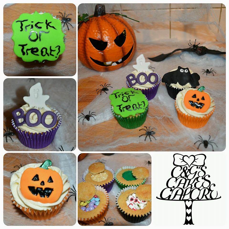Halloween Trick or Treat Cupcakes