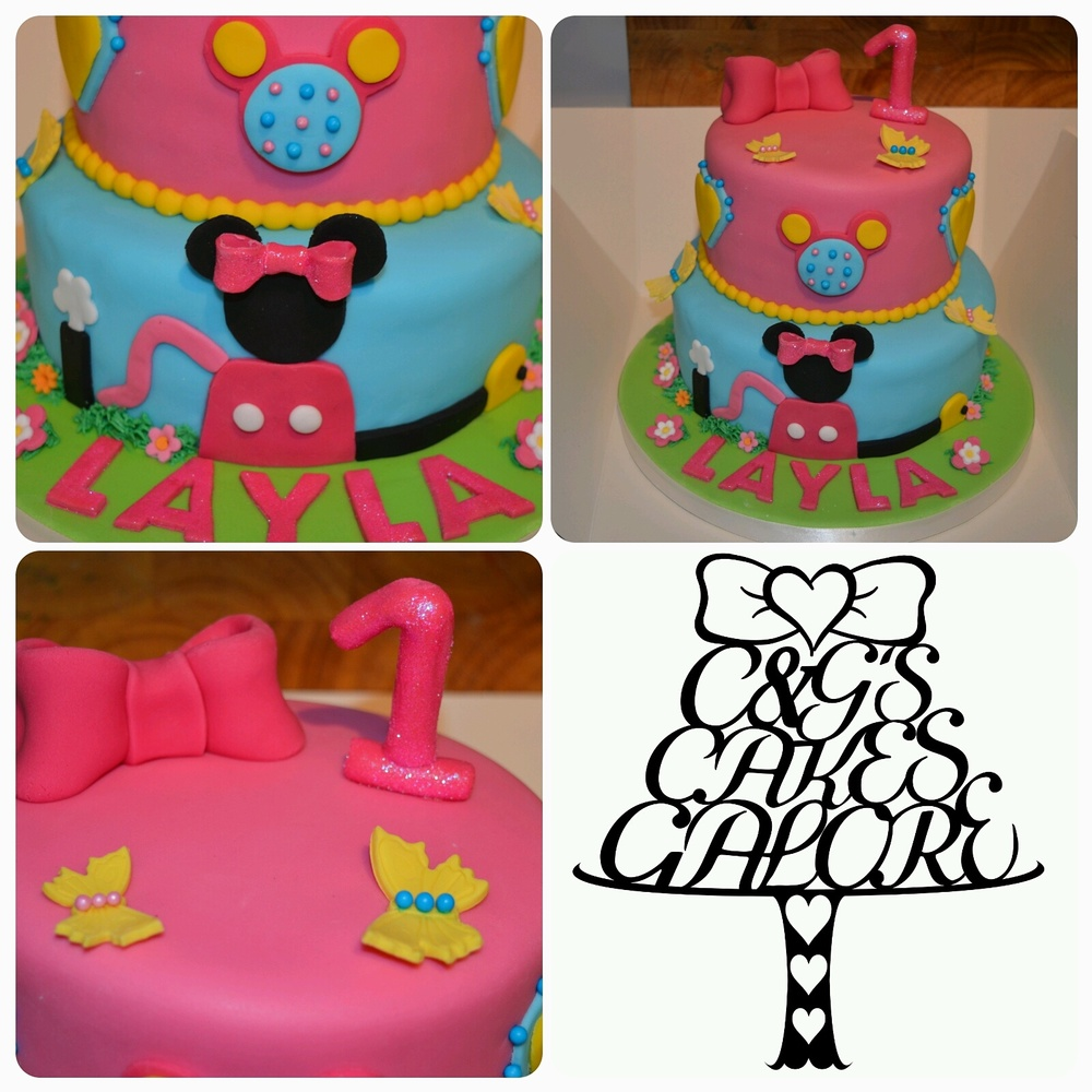 Minnie mouse clubhouse cake