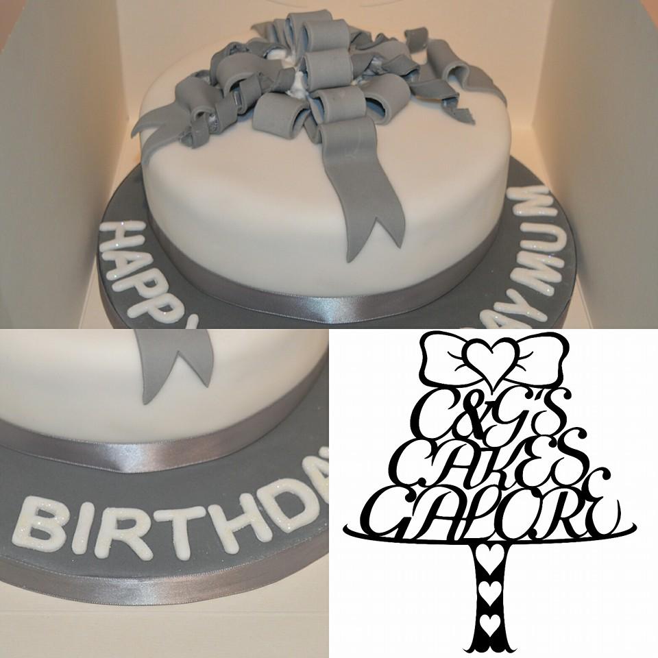 Bow Present Cake