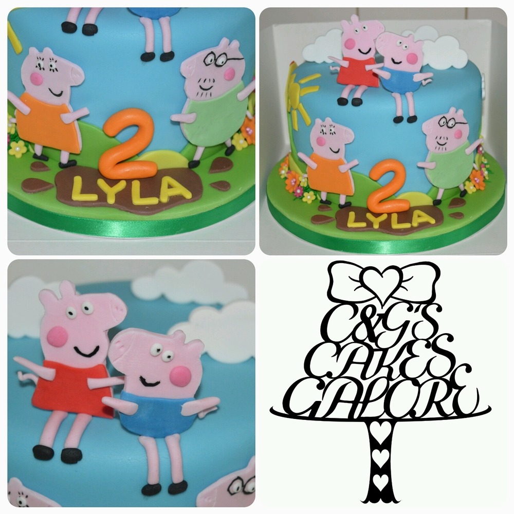 Peppa and George in the Clouds Cake