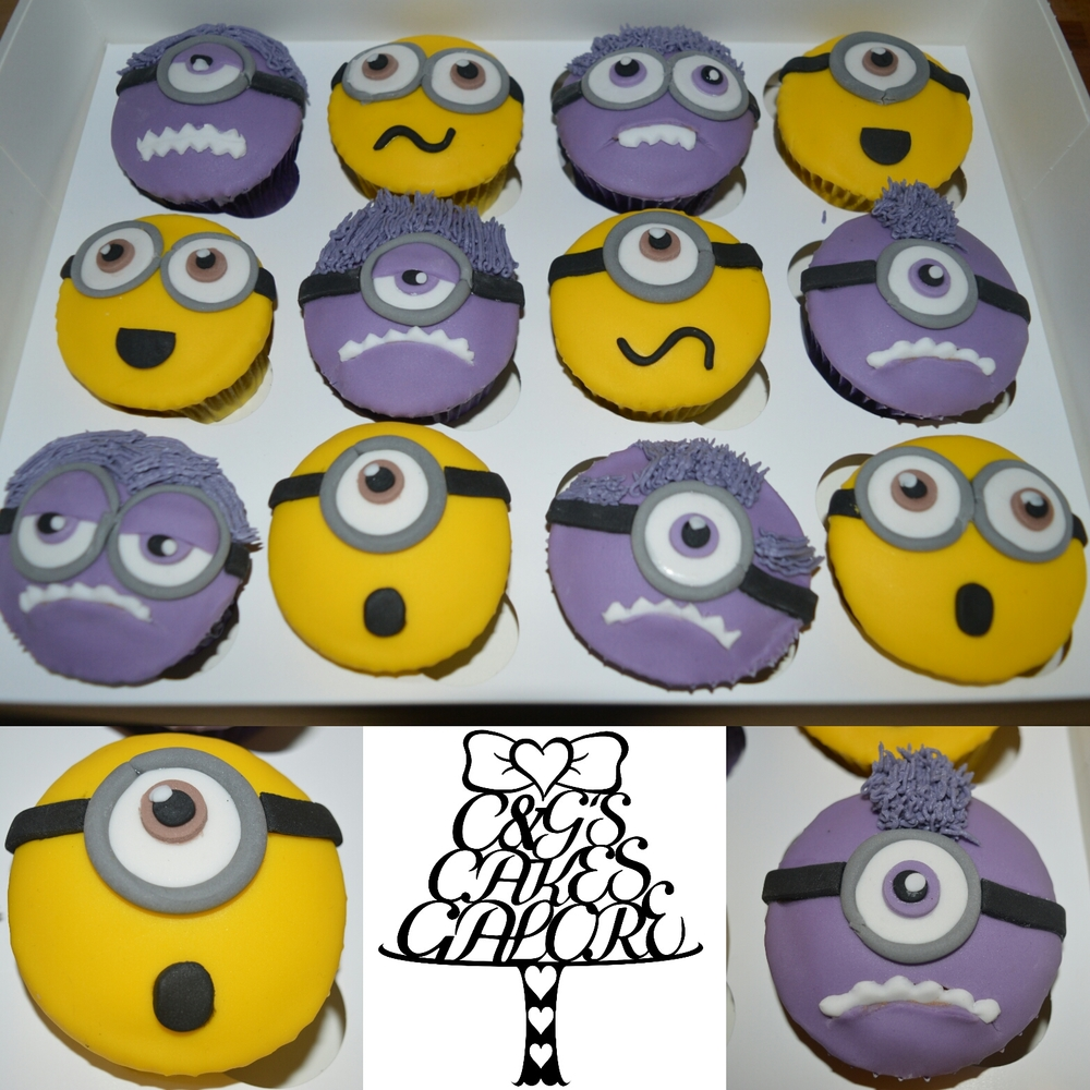 Crazy minions cupcakes