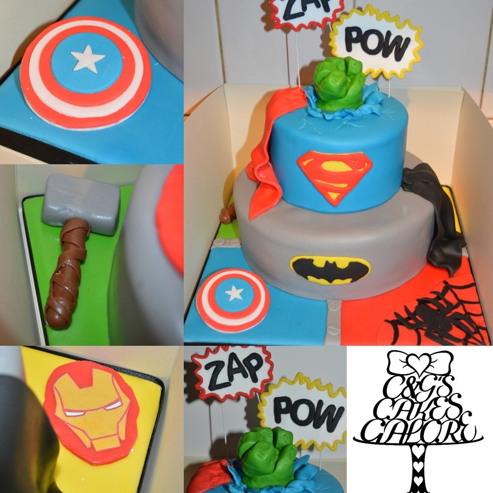 Caped Superhero cake