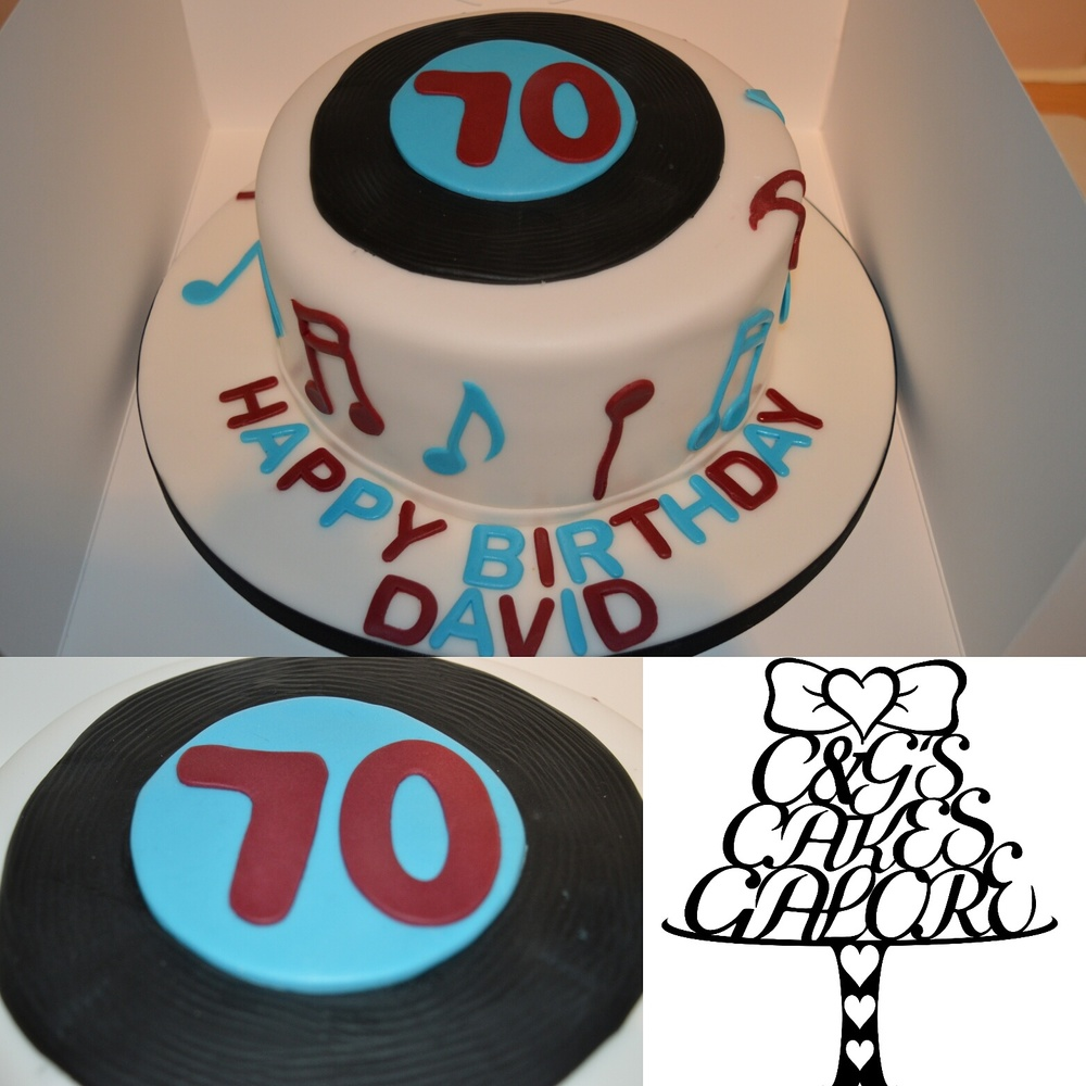West Ham Themed Music Cake