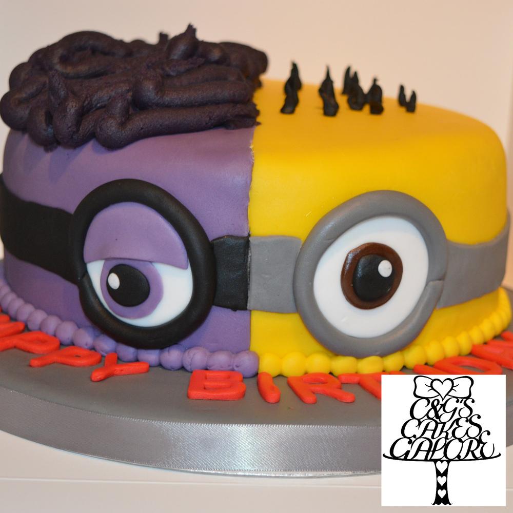 Split Minions Cake