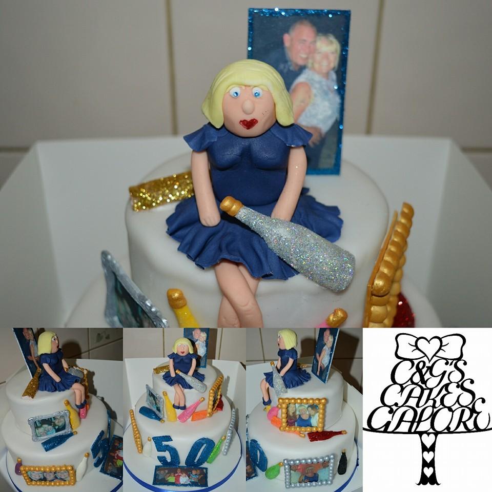 Glittery 50th Cake