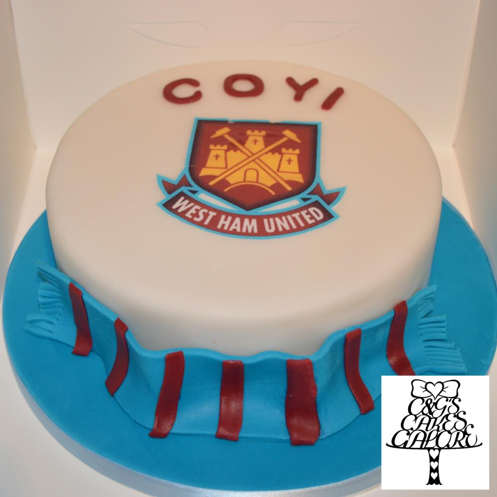 West Ham COYI cake