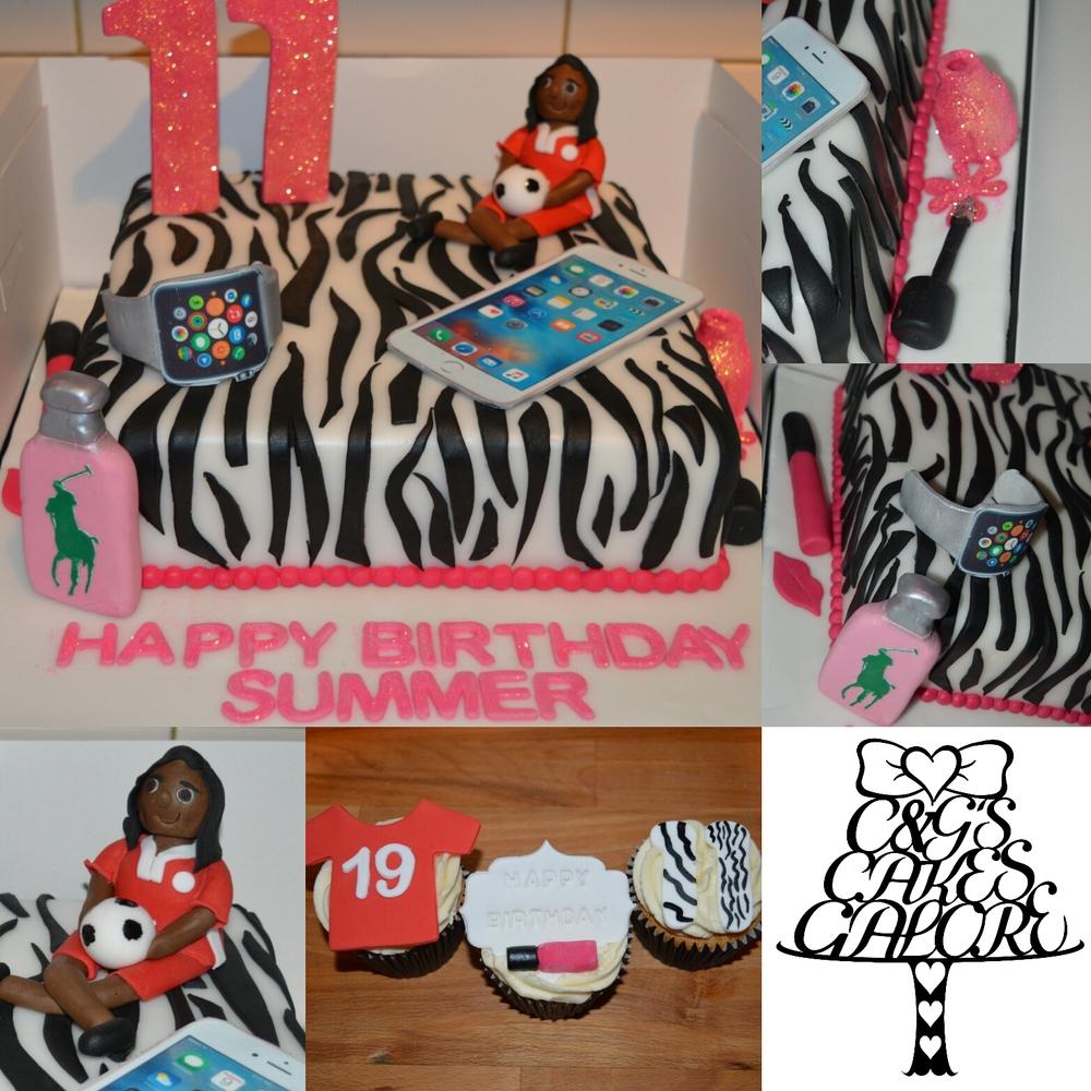 Zebra Print Gadget Cake