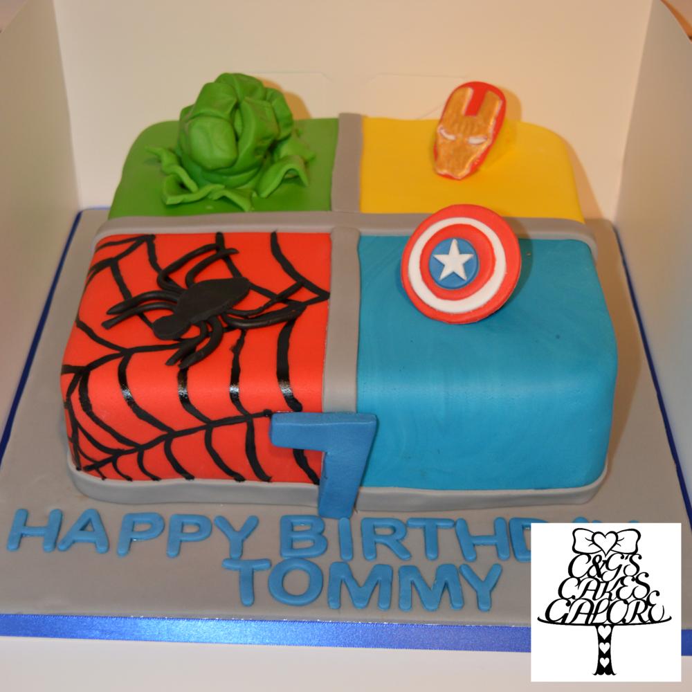 Square Super Hero Cake