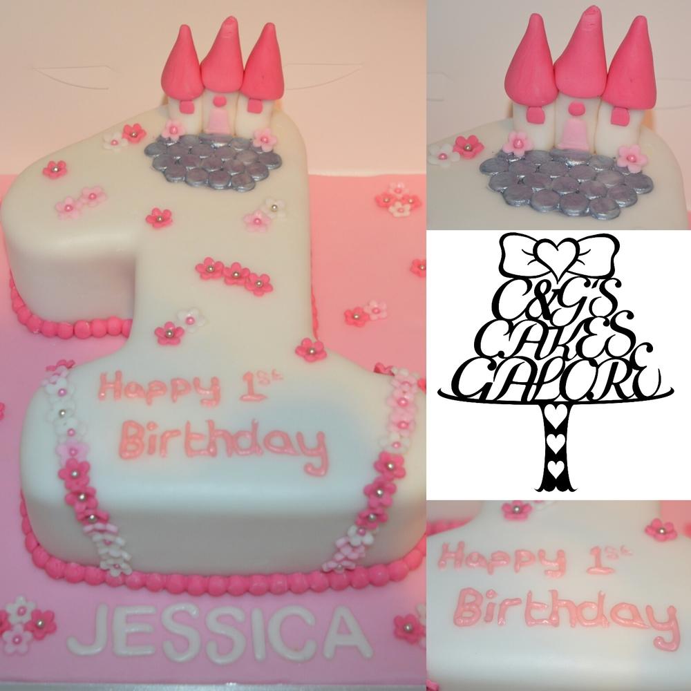 Castle number cake