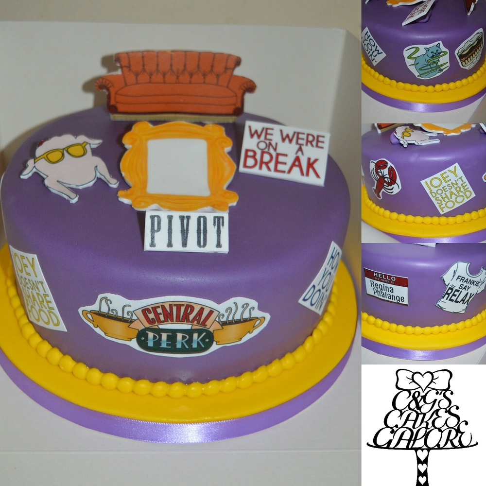 Friends TV Show Cake (Cutout)