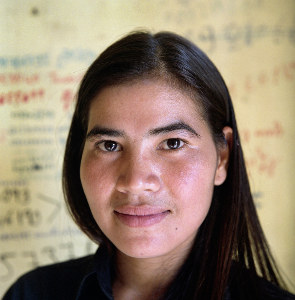 Portrait of Tep Vanny, one of the leaders of the Boeung Kak women's movement in Phnom Penh.