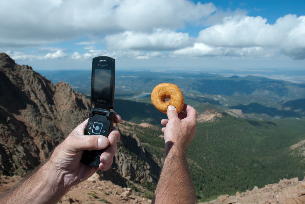 Donuts atop Pikes Peak, Colorado